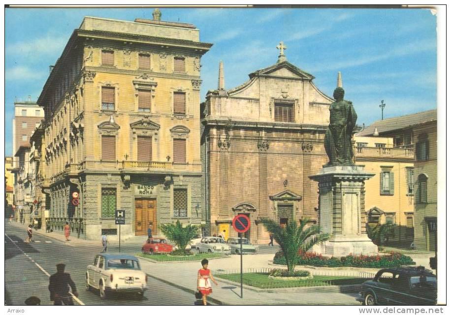 AP003 - Ascoli Piceno - Piazza Roma - Auto Cars Voitures - Alfa Romeo - Fiat - VW Maggiolino - Ascoli Piceno