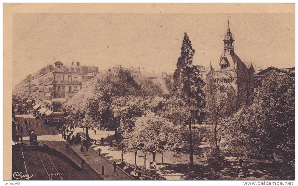 Cpa Toulouse Rue Alsace-lorraine Jardin Du Capitole - Toulouse