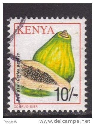 Kenya ~ 2001 ~ 10s Definitive ~ Crops ~ Pawpaw ~ SG 773 ~ Used - Kenya (1963-...)