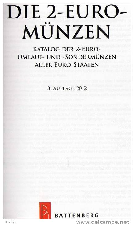 2 EURO Münz Katalog 2012 Aller EU-Länder Neu 15€ Auch Für Numisbriefe Catalogue Numismatica All The 2€ Coins Of Europa - Enciclopedie