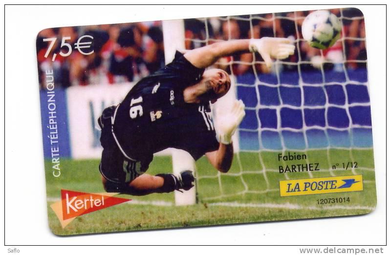 Télécarte Prépayée Football Fabien Barthez - - Sport