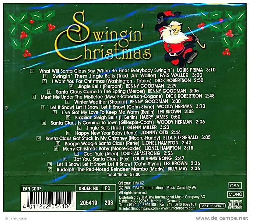 Weihnachtsmusik CD Album  -  Swingin' Christmas - 23 Weihnachtslieder - Weihnachtslieder