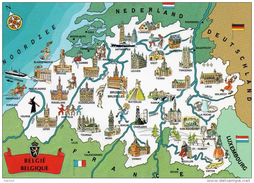 BELGIUM BELGIQUE BELGIO Map - Maps