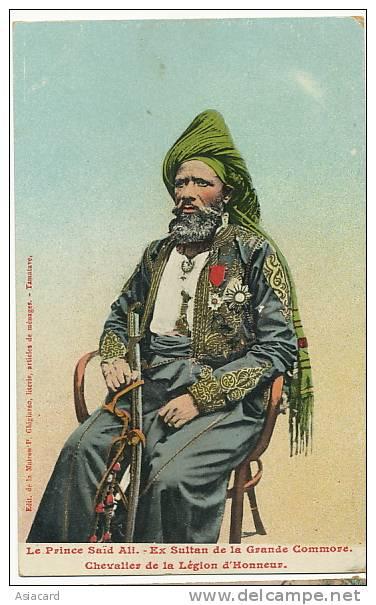 Le Prince Said Ali Ex Sultan De La Grande Comore Chevalier De La Legion D Honneur Ghigiasso - Comores