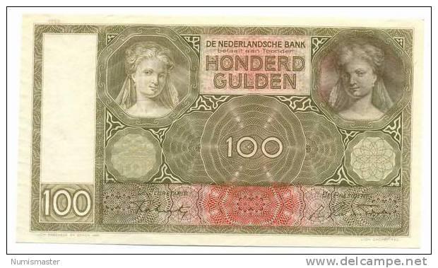 NETHERLANDS 100 GULDEN 8.10.1942. UNC - [2] 1815-… : Royaume Des Pays-Bas