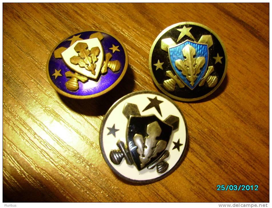 ESTONIA PRE-WW II, FULL SET OF MILITARY SPORTS BADGES , BADGE - Army