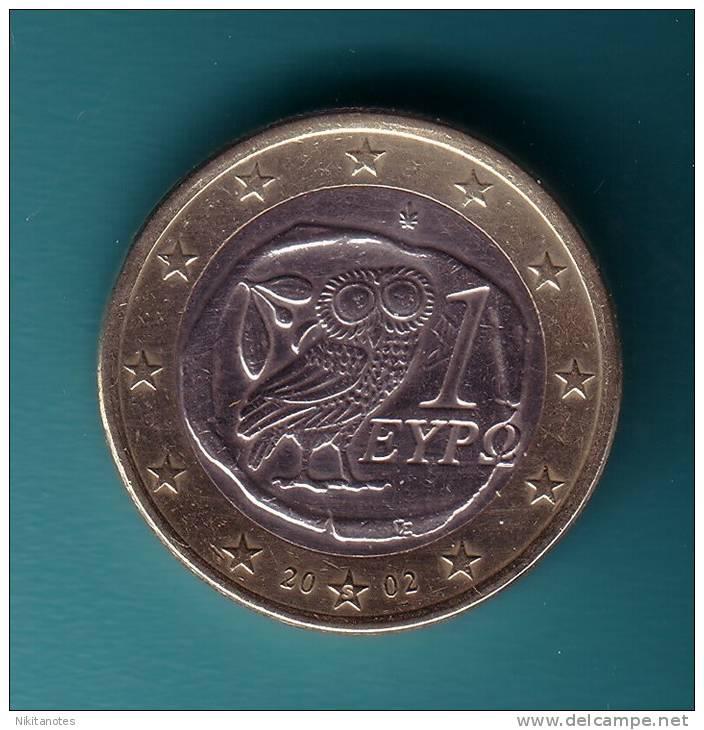 """Greece 2002 1 Euro """"S"""" Coin Athenian Tetradrachm Owl Symbol Of Wisdom & Luck - Grecia"""