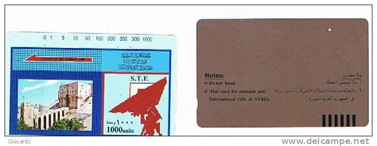 SIRIA  (SYRIA)  - S.T.E.  (TAMURA) - ALEPPO CASTLE 1000      -  USED    - RIF. 854 - Syria