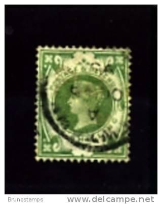 GREAT BRITAIN - 1887   1s.  DULL GREEN   FINE  USED - 1840-1901 (Regina Victoria)