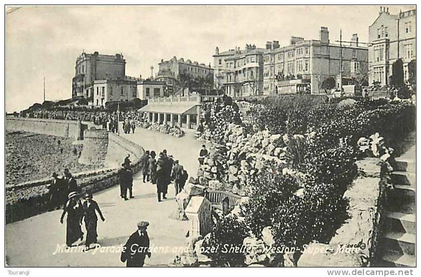 England : Mar12 589 : Weston-Super-Mare  -  Marine Parade Gardens  -  Pozel Shelter - Weston-Super-Mare