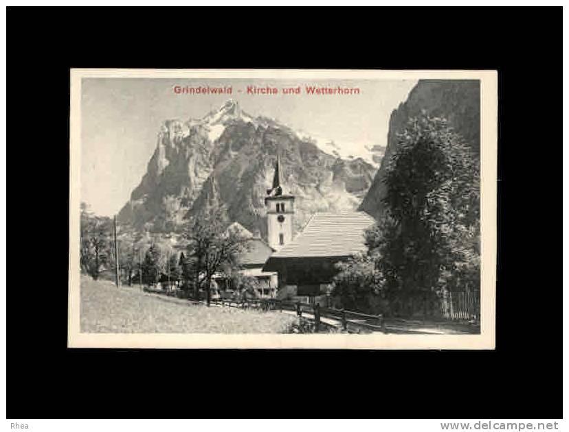 CHROMOS - SUISSE - Grindelwald - Kirche Und Wetterrhorn - Publicité CAILLER Milk Chocolate - Chocolat - Chocolat