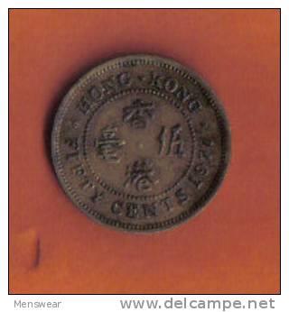 HONG KONG  - 50 CENTS 1977 - Hong Kong