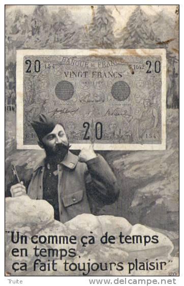 UN COMME CA DE TEMPS EN TEMPS CA FAIT TOUJOURS PLAISIR  BILLET DE 20 FRANCS - Monnaies (représentations)