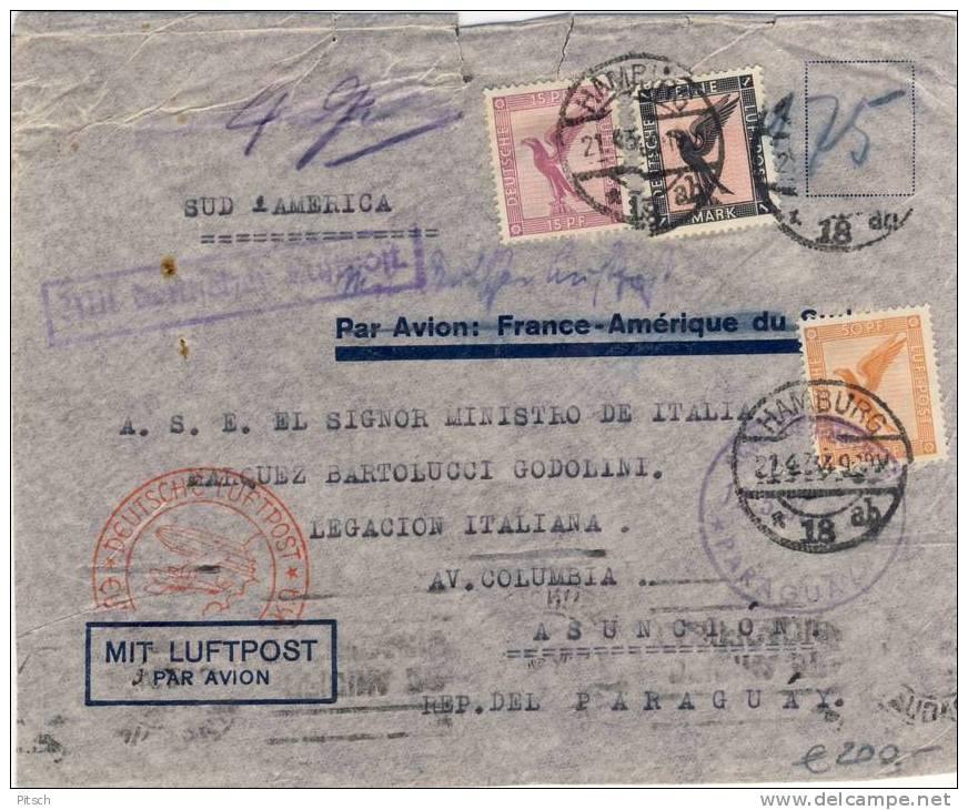 Deutschland 1934 - Erster Flug über Den Südatlantik - Katastrophenpost, Crash Cover - Deutschland