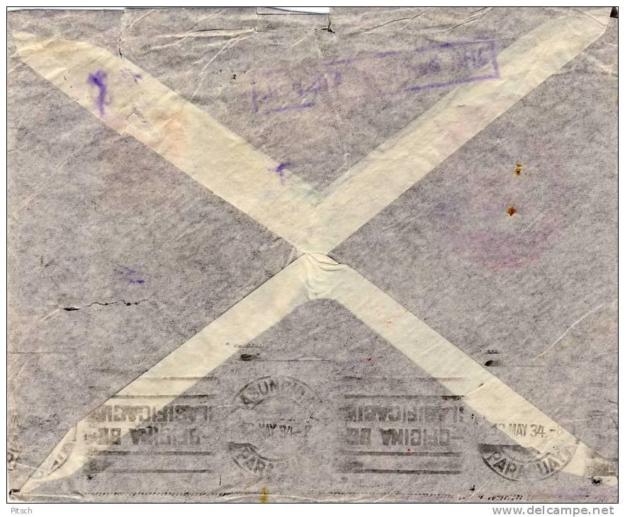 Deutschland 1934 - Erster Flug über Den Südatlantik - Katastrophenpost, Crash Cover - Briefe U. Dokumente