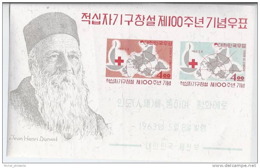 Corée Du Sud YT BF 61 Obl : Centenaire De La Croix-Rouge Jean Henri Dunant - Corée Du Sud
