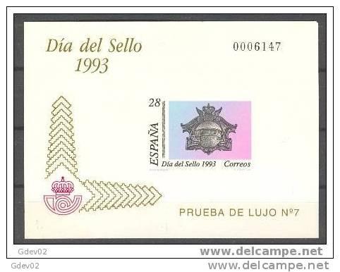 ESPO28-L1931TV. España. Spain.Espagne.PRUEBA OFICIAL 28 DIA DEL SELLO 1993.(Ed PO 28). LUJO - Variedades & Curiosidades