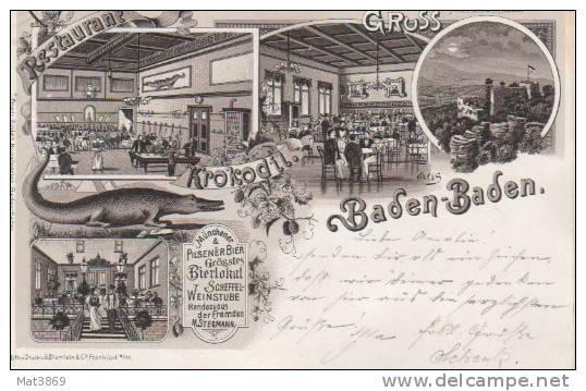 GRUSS AUS BADEN BADEN Restaurant KROKODIL - Baden-Baden