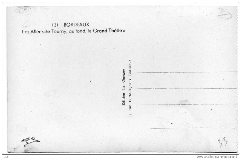 [33] Gironde > Bordeaux- Les Allées De Tourny Au Fond Le Grand Théâtre- Cpsm- Voir Description *PRIX FIXE - Bordeaux