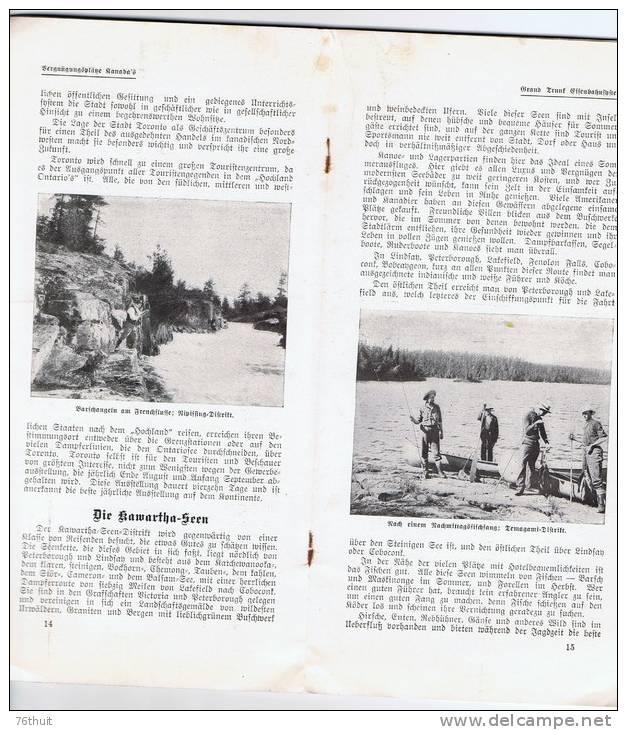 1910 - Vergnügungsplätze Kanada´s - Die Sammelorte Von Fish Und Wild Und Die Reizendsten Sommeraufenthalte In Umerika - América