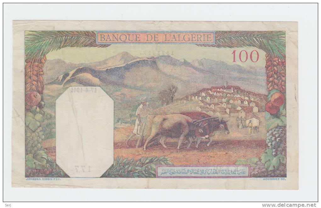 Tunisia 100 Francs 1941 VF+ Banknote P 13a  13 A - Tunisia