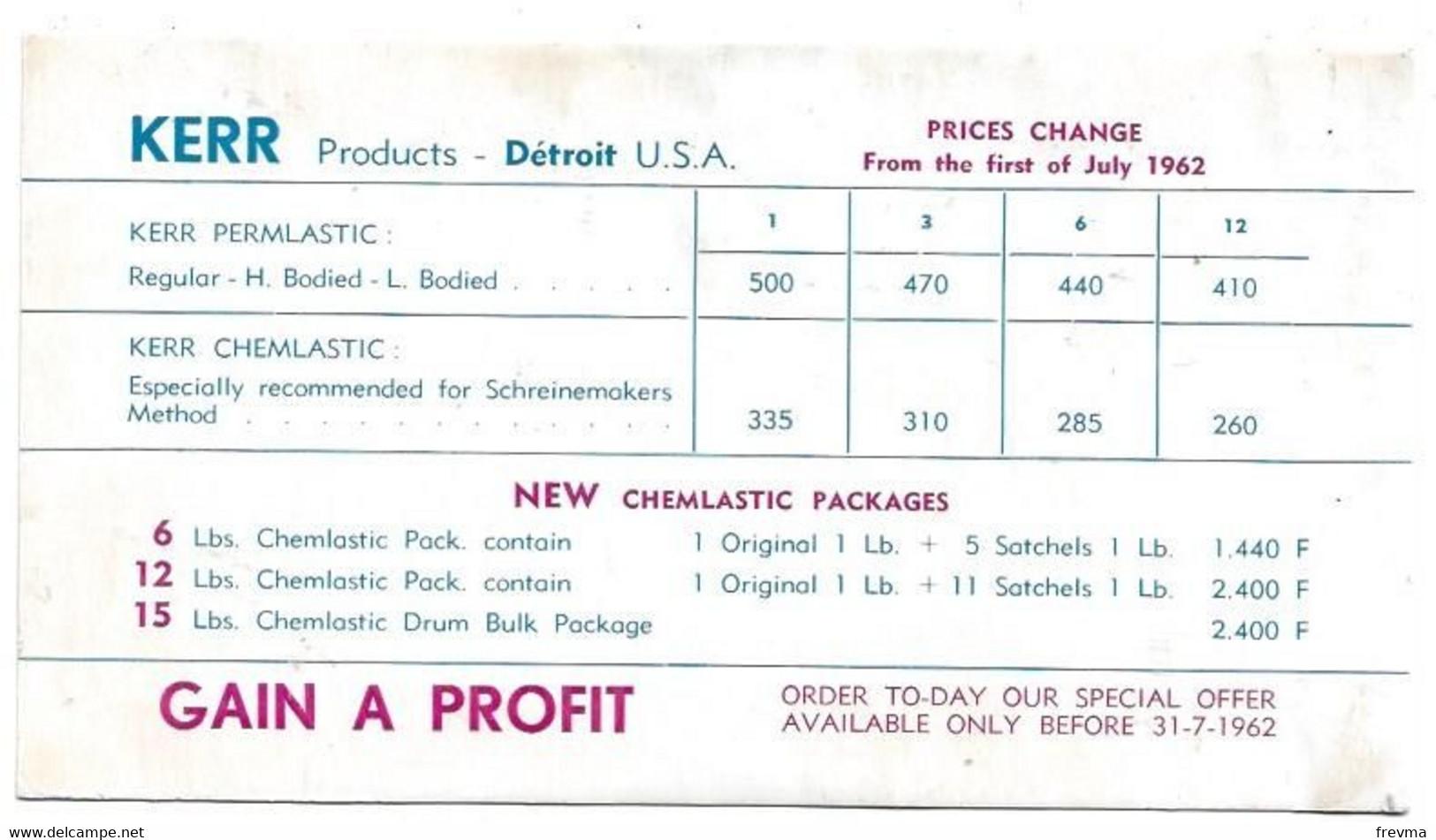 Buvard Kerr Products Detroit Usa - K