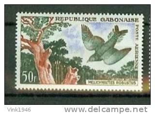 Gabon Gabonaise 1961, 1V, Birds,vogels,oiseaux,vögel,MH/Ongebruikt(D1293) - Oiseaux