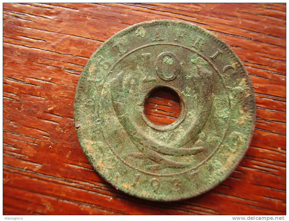 BRITISH EAST AFRICA USED TEN CENT COIN BRONZE Of 1937 - British Colony