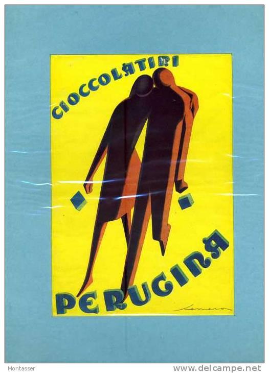 PERUGINA. Pubblicità Da Periodico Anni '20. Ill. SENECA. Con Passepartout. - Cioccolato