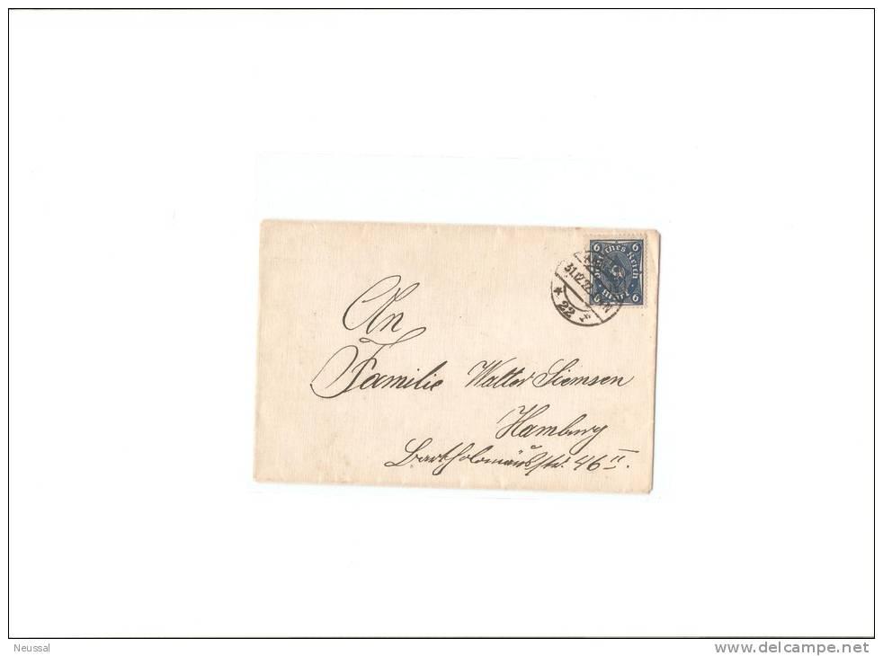 Carta De Alemania 1922 - Germany