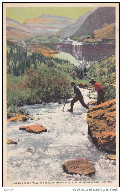 Morning Eagle Falls & Trail To Piegan Pass, Glacier National Park, Montana, 1910-1920s - Altri