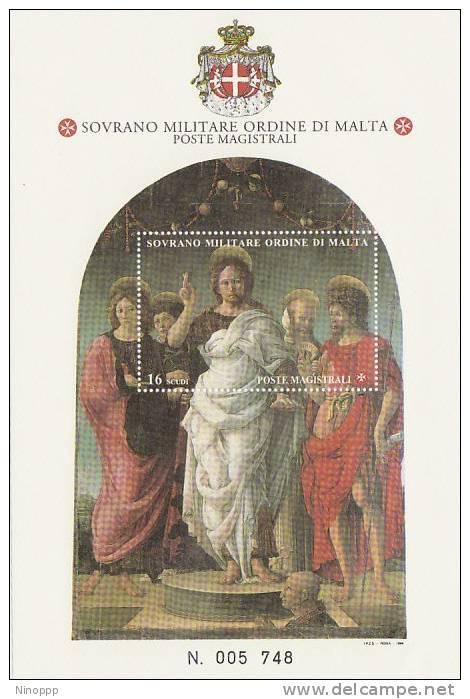 SMOM-1996 BF 48 St John Souvenir Sheet MNH - Malte (Ordre De)
