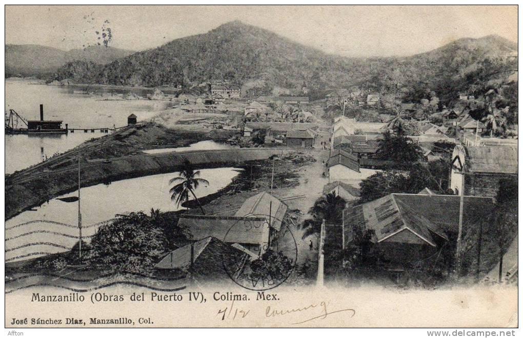 Manzanillo Colima Obras Del Puero IV 1907 - México