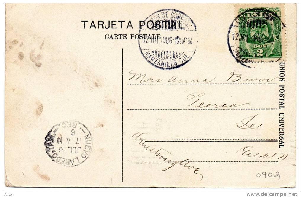 Manzanillo Colima Obras Del Puero IV 1907 - Mexique