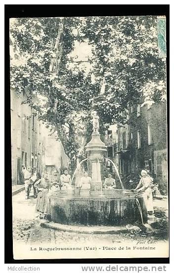 83 LA ROQUEBRUSSANNE / Place De La Fontaine / - La Roquebrussanne