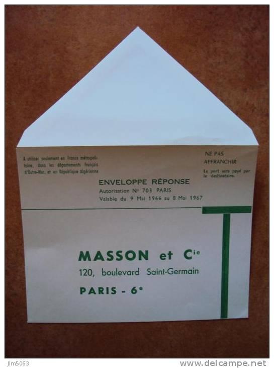 ENVELOPPE REPONSE Ancienne Mai 1966 1967 - Vieux Papiers