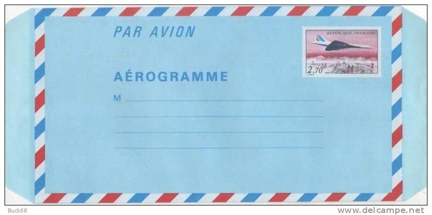 FRANCE Aérogramme 1008 Supersonique CONCORDE SUPERSONIQUE Air France - Concorde