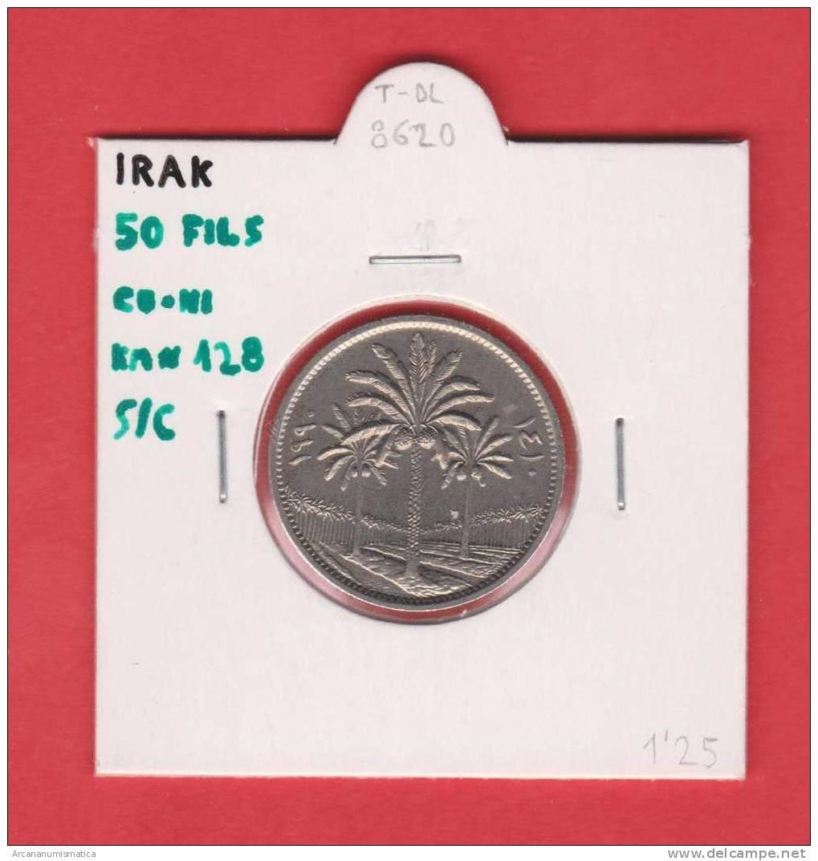 IRAK  50  FILS  KM#128   CU NI     SC/UNC   DL-8620 - Iraq