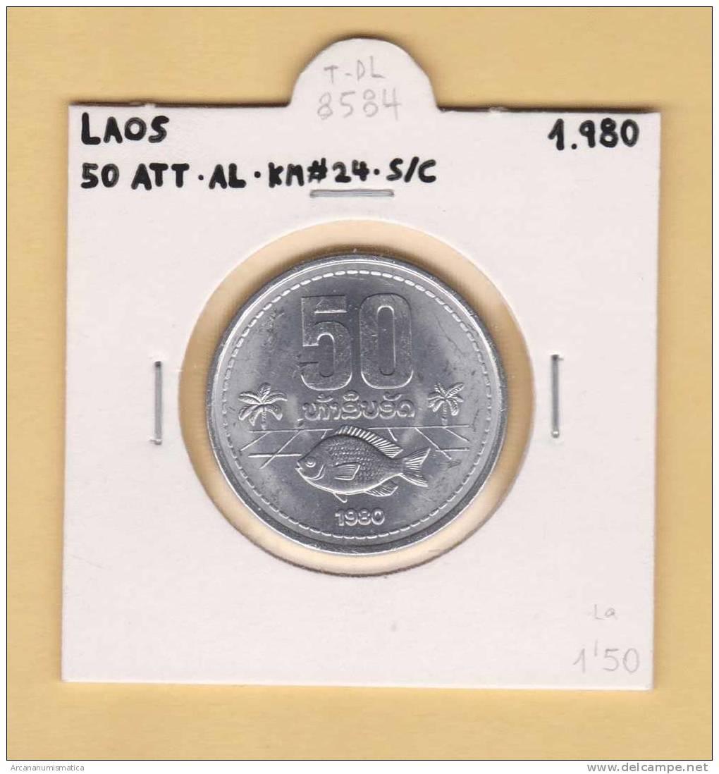 LAOS  50  ATT  Aluminio  KM#24  1.980   SC/UNC    DL-8584 - Laos