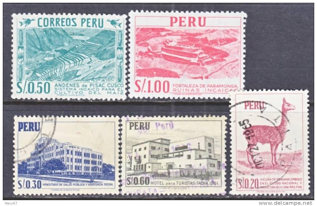Peru 483+   (o)    1962 Issue  Thom. De La Rue - Peru