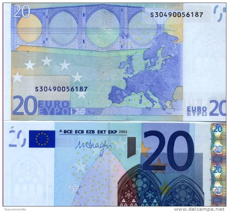 EURONOTES BANCONOTA BILLET DA 20 EURO DRAGHI S ITALIA J029H1 UNC LE PRIME DI DRAGHI - Unclassified