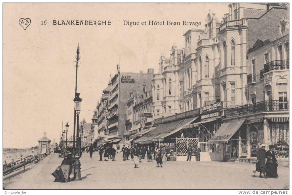 Blankenberge, Blankenberghe, Digue Et Hôtel Beau Rivage (pk10432) - Blankenberge