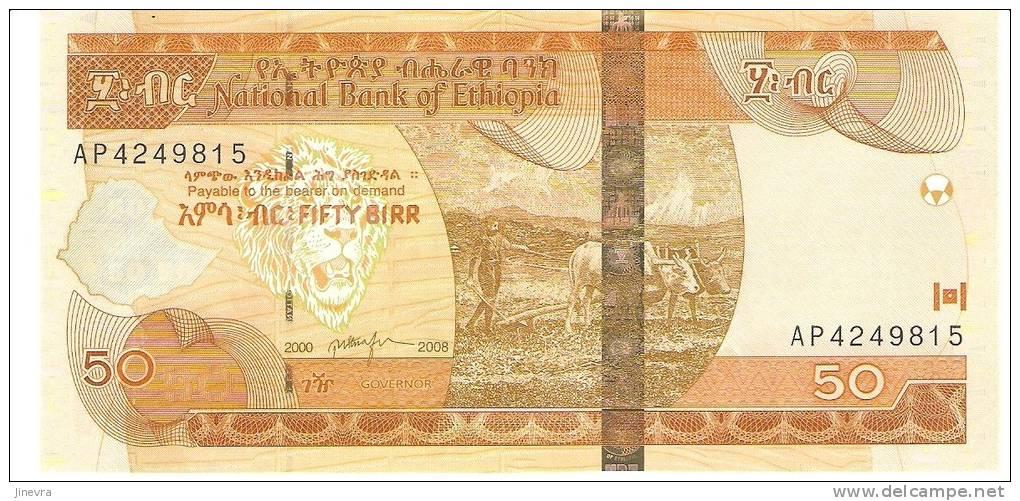 ETHIOPIA 50 BIRR 2008 PICK NEW UNC - Ethiopie