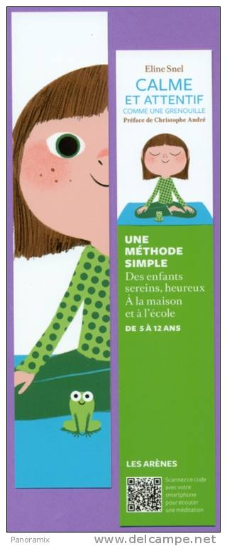 """Arènes   E.  Snel  """"  Calme  Comme  Une  Grenouille  """"   4 X 20 Cm - Marque-Pages"""