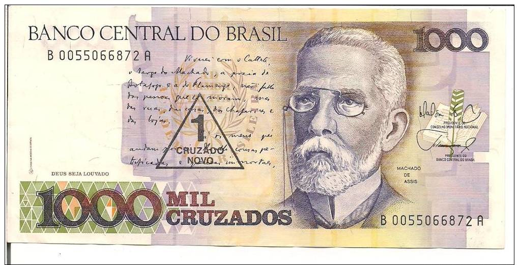 BRAZIL 1000 MIL CRUZADOS CIRC AS SCAN Images - Frompo