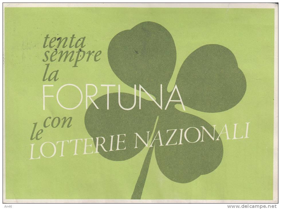 LOTTERIA DI AGNANO CARTOLINA CON TAGLIANDO ANNO 1979 - Lottery Tickets