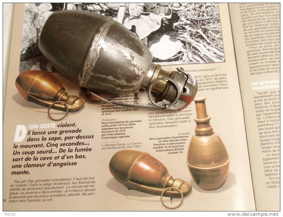 TRES BELLE ET ((( RARE ))) !  GRENADE INCENDIAIRE FRANCAISE 1916 ( TOTALEMENT VIDE )  !!! - 1914-18