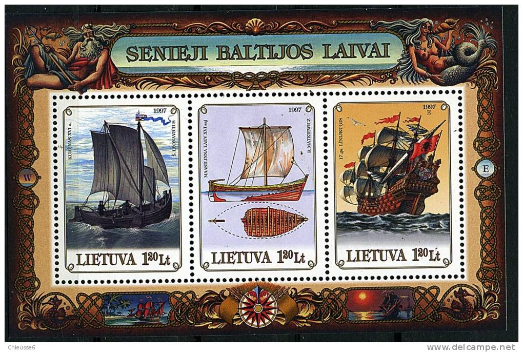 Lituanie ** Bloc N° 12 - Vieux Navires Baltes - Litauen