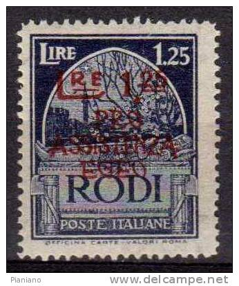 PIA - EGEO - 1943 : Occupazione Tedesca : Pro Assistenza Egeo  - (SAS  124) - Egeo (Occup. Tedesca)