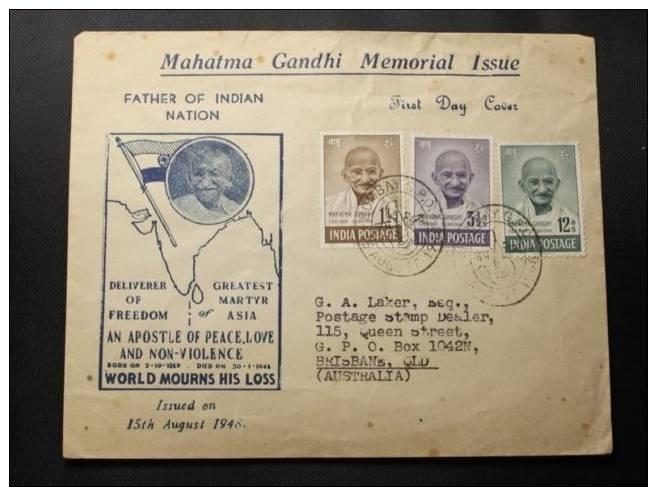 1948 INDIA LETTRE  MAHATMA GANDHI RARE - India